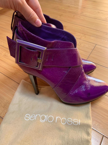 Zapatos Botines De Marca Sergio Rossi,originales! Talla 38