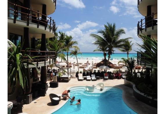 Condominio Frente Al Mar En Planta Baja. Spa, Club De Playa,