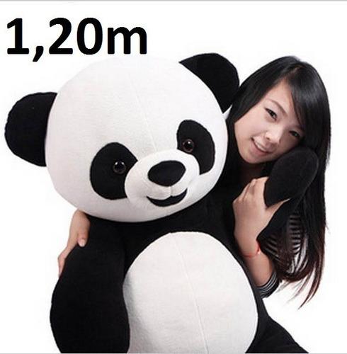 Urso Panda Grande De Pelúcia 1,20 Metros 120cm Já Vai Cheio