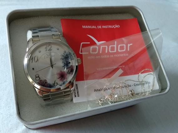 Relógio Feminino Prateado Condor Co2039au/k3k