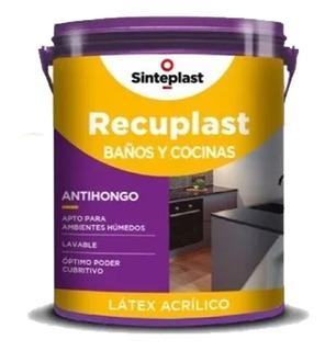 Recuplast Látex Antihongos Baños Y Cocinas Blanco 4 Lts -un