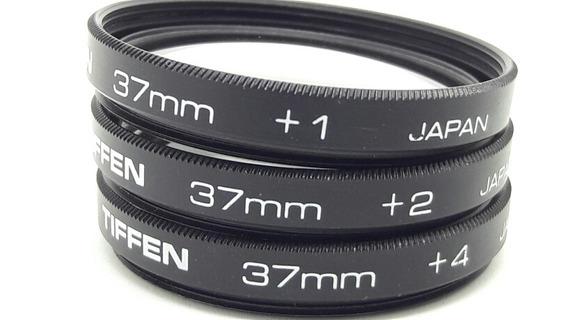 Filtro 37mm Close Up Kit +1 +2 +4 Marca Tiffen