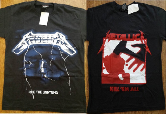 2 Camisetas Banda Metallica Kill