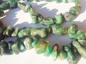 Jóia Colar Em Pedra Natural Esmeralda Verde Comprido Luxo