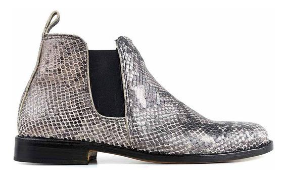 Bota Cuero Briganti Zapato Mujer Botita Suela Mcbo024857 Pt