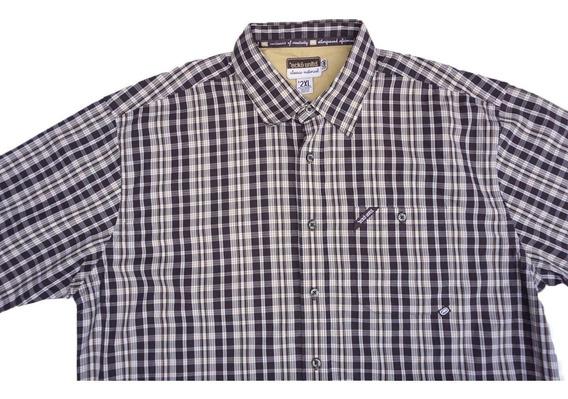 Camisa Manga Corta Ecko Talla 2xl Cuadros Algodon Xxl