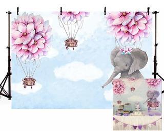 Globo Aerostático Elefante Baby Shower Fiesta Telón De ...