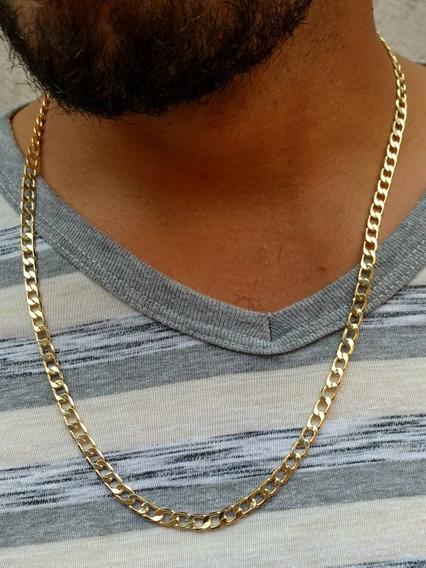 Cordão Corrente Masculina Banhado A Ouro 18k 60 Cm