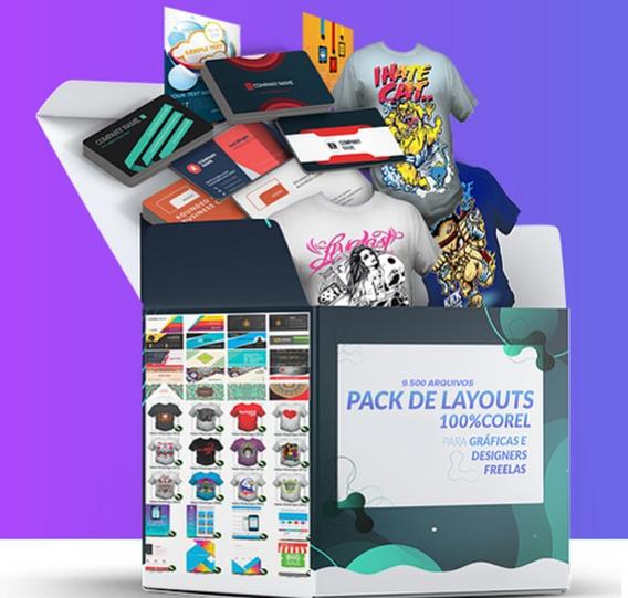 Pack 9.200 Vetores Corel Flyer Cartões Estampas Fontes Cdr