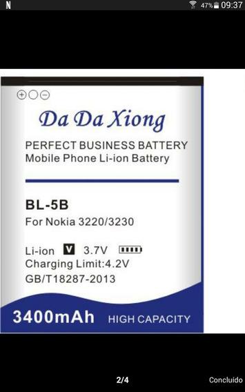 2 Baterias Bl-5b 3.400ma(frete Grátis Carta Registrada)