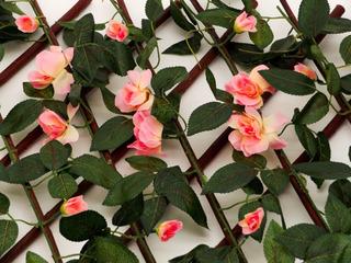 Follaje Sintético Expandible 3 Piezas C/flor 2.20cm X .70cm
