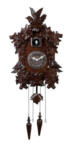 Relógio Alemão Cuco Parede Herweg 5386 Madeira Ipê Pêndulo
