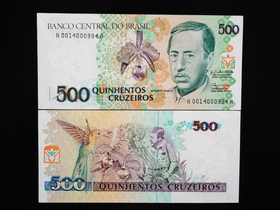 C216 Cédula 500 Cruzeiros 1990 Augusto Ruschi Fe