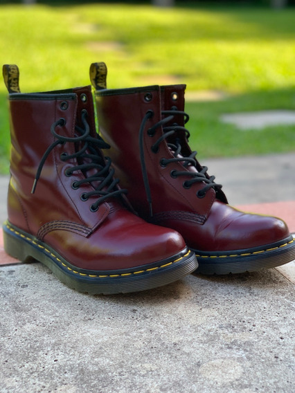 Borcegos Doctor Martens 1460 W ( Mujer) Smooth Cherry Red