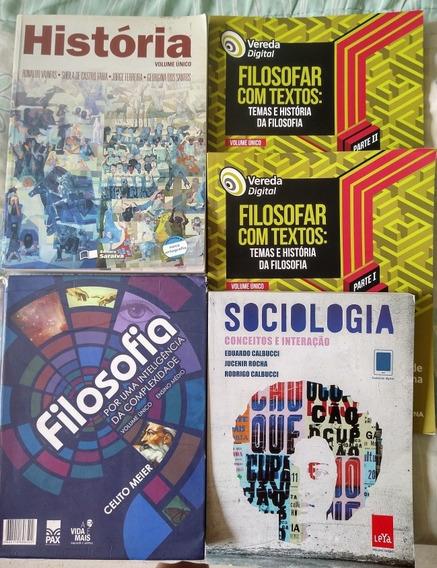 5 Livros Didáticos Ensino Médio História Filosofia Sociologi