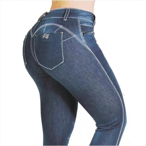 Calça Feminina Jeans Lycra Pit Bulll Bojo Modela Bumbum
