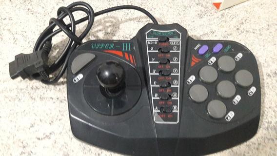 Controle Arcade Viper 3 / Vyper 3 Mega Drive Super Nintendo