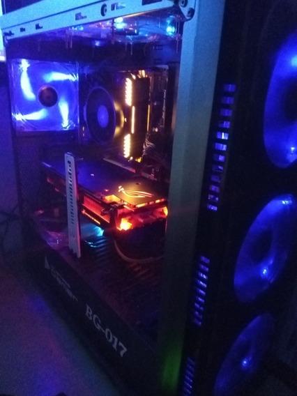 Pc Gamer Rx 580 8gb + Ryzen 5 1500x + 24 Gb Ram + Ssd + 750w