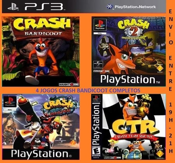 Crash Bandicoot 1 2 3 + Team Racing - Jogos Ps3