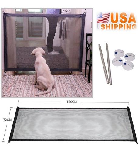 Magic Mesh Perro Mascota Puerta Puerta Barrera Protector Seg