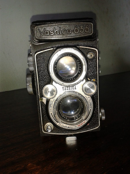 Camera Yashica 635 Antiga (only Wood)