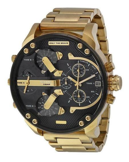 Relojes Diesel Negro Dorado Gold Hombre Dz4360 Dz7311 Dz7370