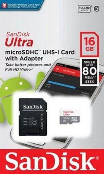Cartão De Memória Micro Sd Ultra Sandisk 16gb