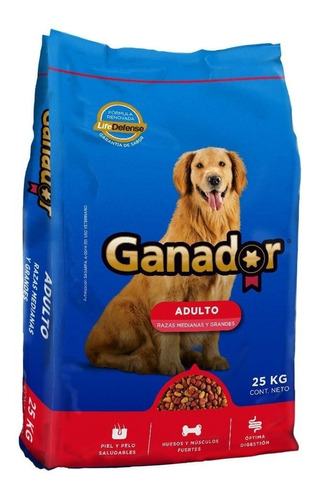 Ganador Alimento Perro Adulto Bulto 25 Kg