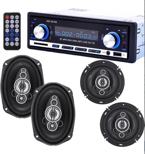 Imagen 1 de 5 de Stereo Bluetooth Estereo 20158 Auto Usb Mp3 Fm + 4 Parlantes