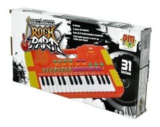 Teclado Piano Musical Center Infantil 31 Teclas Dt5387