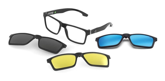 Oculos Mormaii Swap M6057a0256 Preto Bril Clip On Polarizado