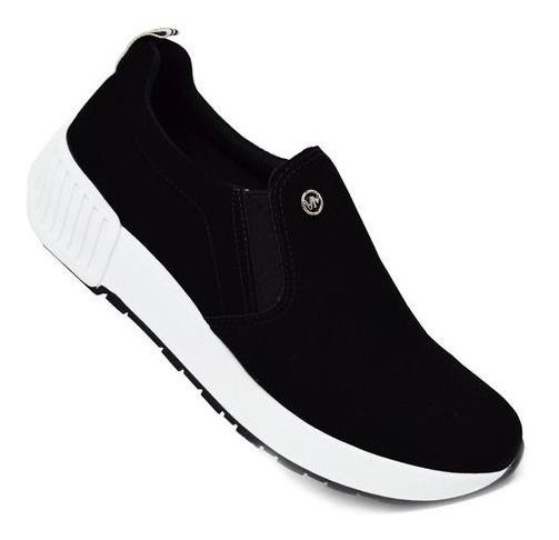 Tênis Feminino Via Marte Slip On 2706 Preto