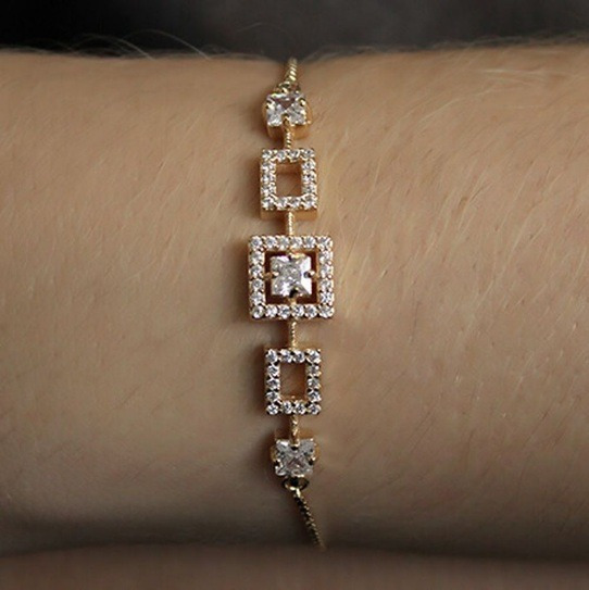Pulseira Semijoia Shambala Ajuste Gravatinha Luxo Ouro 18k