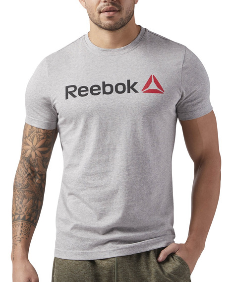 Remera Reebok Training Linear Read Hombre Gr