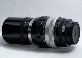 Lente Nikkor 200mm F4 Non Ai (canon Fuji Sony C/ Adaptador )