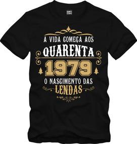 Camisa Personalizada Vida Começa Aos Quarenta 1979 Data 002