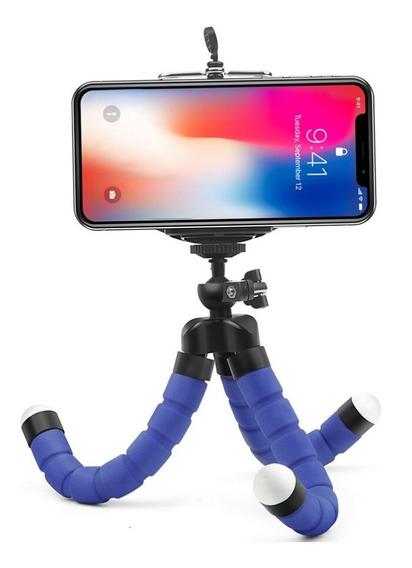 Mini Tripé Suporte Flexível Portátil P/ Celular Câmera Ação