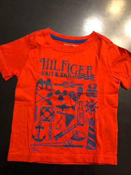 Remera Unisex Tommy Hilfiger T2 Traída De Usa - Impecable