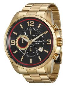 Relógio Mondaine Masculino Dourado 78729gpmvda1