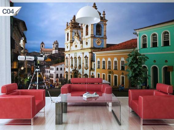 Papel Parede Adesivo Contact Decoração Cidade Salvador - C04