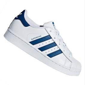 8285ec65a22 Tênis adidas Infantil Superstar Branco Azul F34164 Original