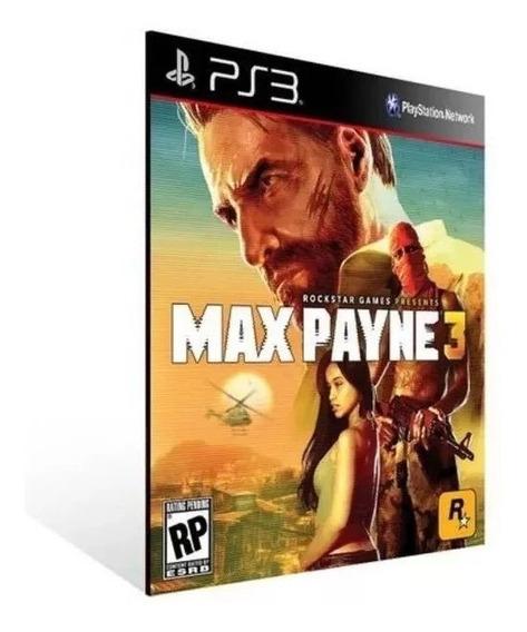Max Payne 3 Ps3 Português Jogo Original Psn Envio Rápido