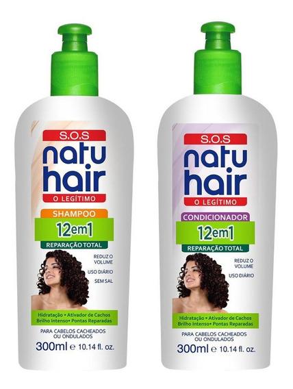 Kit Shampoo 300ml + Condicionador 300ml Sos 2 Em 1 Natuhair