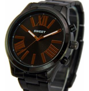 Reloj Sweet Dama Acero Empavonado Nuevo Garantía Oficial 12m