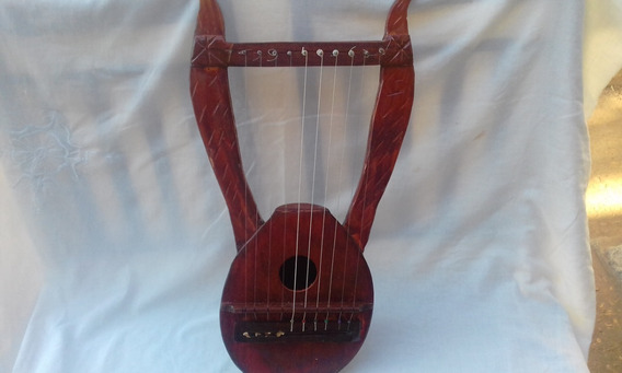 Lira Grega 10 Cordas - Mini-harpa - Artesanal O. Couto