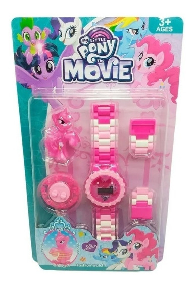 Relógio Digital Infantil My Little Poney + Mini Poney