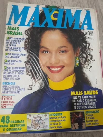 Revista Máxima N° 11 Tricô - Moda - Culinária