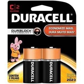 Kit Com 8 Pilhas Alcalina Duracell C * Duralock * Original *
