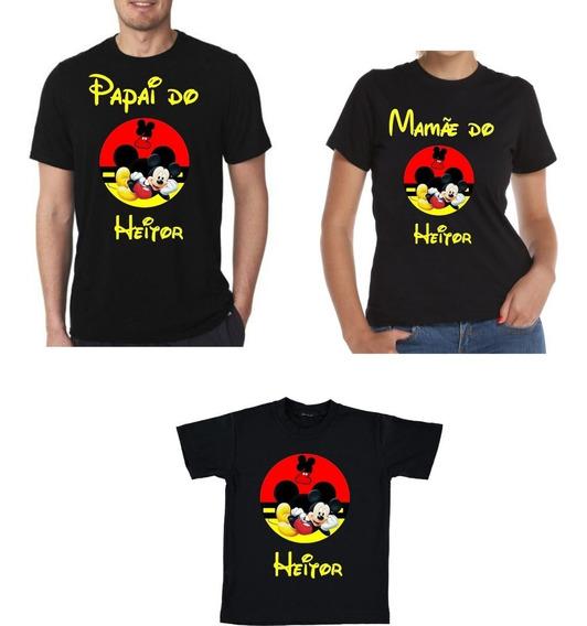 Kit Camisas Mickey Mouse Para Aniversario