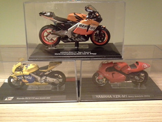 Miniatura Motogp Max Biaggi Honda 2005 Yamaha 2002 E 2004
